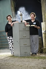 Smoky Jo, Smoky Georgina and Freddy the Filing Cabinet, our first home smoker