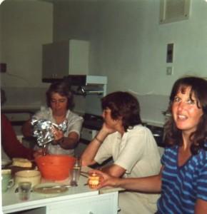 Mrs Bird, my cookery teacher, way back when...