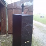 Freddy, the third filing cabinet smoker created by Smoky Jo, making his debut!