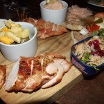 Smoked chicken, smoked cheeses, smoked olives, smoked mussel salad...