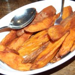 A wonderful accompanniment... sweet potato chips...