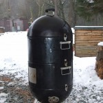 The hot smoker does its best to hot smoke