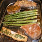 Smoked salmon, trout and asparagus
