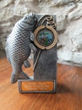 Fishing trophy from the Business Women's Network fishing competition at Bessy Beck