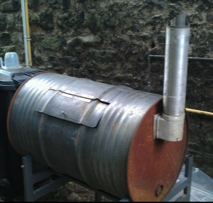 Steel drum smoker by Vaughan