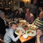 The Popplewell family enjoying their smoked fish, meat and poultry!