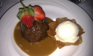 Sticky Toffee pudding with clotted cream ice cream