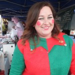 Leanne the Christmas Elf and Orton Farmers' Market co-ordinator