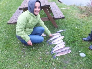 Huda and the big trout!