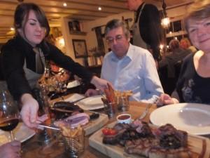 Enjoying smoked meats
