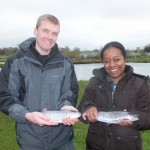 Paul and Lanto with their trout