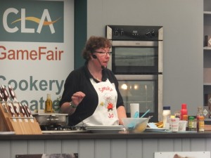Smoky Jo in the cooking theatre