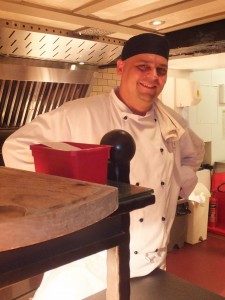 Rafa at the WIld Boar, proud to be flame-grilling the best steaks!