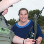 Michelle caught a fish (but wouldn't touch it..!)