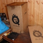 The four year old box and the new flat pack one