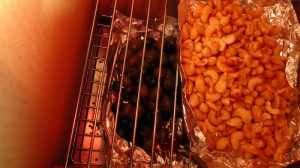 Nuts and olives in new smoker